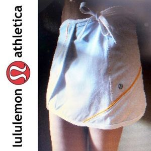 LULULEMON rare white THAT'S A WRAP skirt sz 4 EUC!